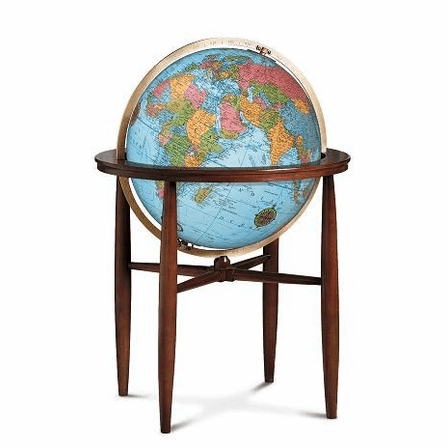 Finley Floor Globe In Blue by Replogle Globes