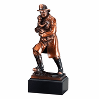 Firefighter Holding Child Personalized Award