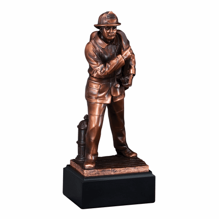 Firefighter In Front Of Hydrant Personalized Award