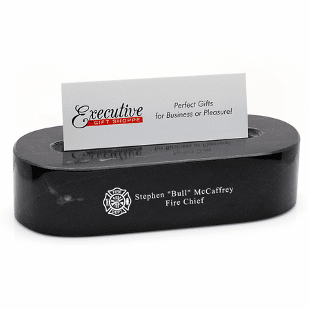 Firefighter's Desk Business Card Holder