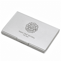 Firefighter's Engraved Business Card Case