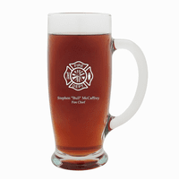 Firefighter's Personalized 18 Ounce Pilsner Glass with Handle
