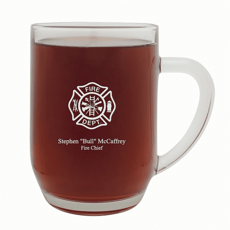 Firefighter's Personalized  20 Ounce Barrel Mug with Handle