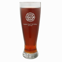 Firefighter's Personalized 22 Ounce Grand Pilsner Glass