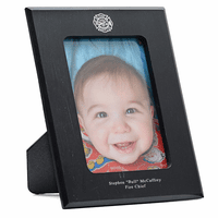 Firefighter's Personalized Marble Photo Frame