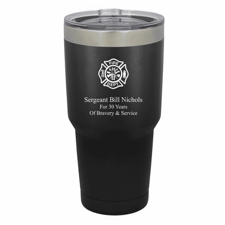 Firefighter's Shield Personalized 30 Ounce Tumbler