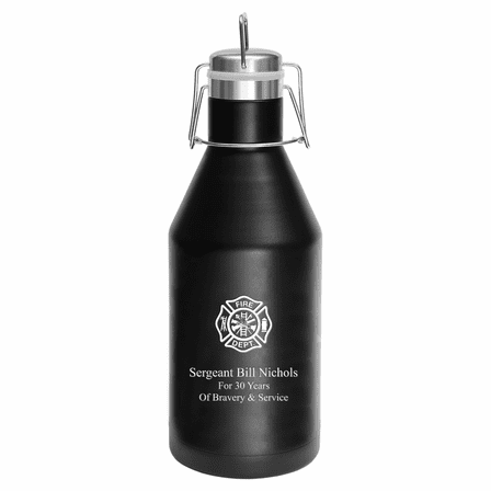 Firefighter's Shield Personalized 64 Ounce Growler