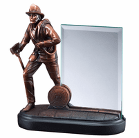 Firefighter With Axe Personalized Award