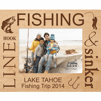 "Fishing Personalized 5"" x 7"" Picture Frame"