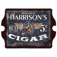 Five Cent Cigar Vintage Pub Sign - Free Personalization
