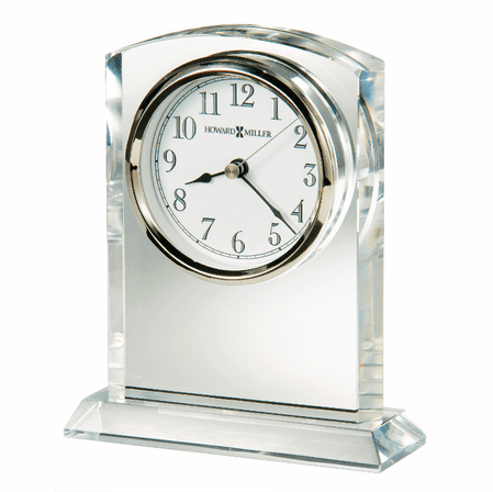 Flaire Glass Table Clock by Howard Miller