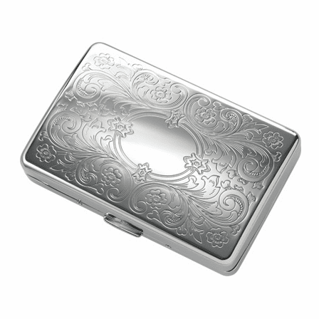 Fleur-De-Lis Engravable Cigarette Case for Kings