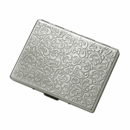 Floral Design Single Sided Cigarette Case for Kings and 100s