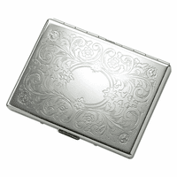 Floral Pattern Engravable Cigarette Case for Kings and 100s