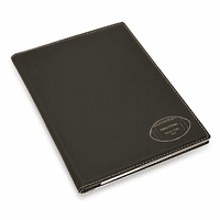 Football Coach's Personalized Black Leatherette Portfolio
