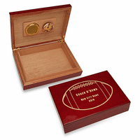 Football Coach's Personalized Cherry Finished Humidor