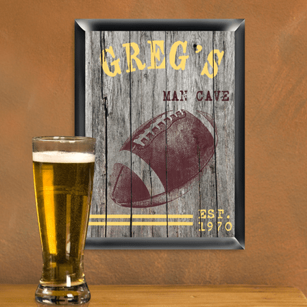 Football Man Cave Sign - Free Personalization