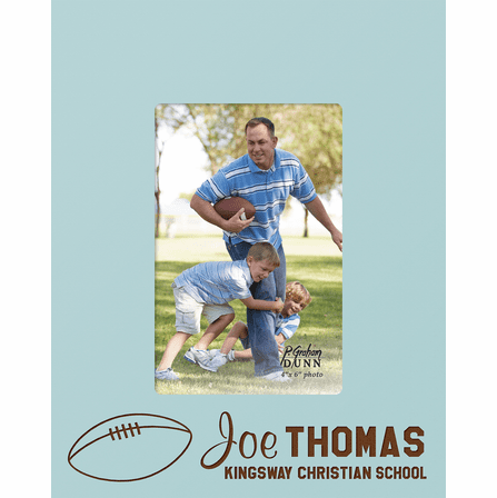 "Football Personalized 4"" x 6"" Picture Frame"