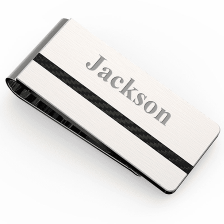 Formal Engraved French Fold Money Clip