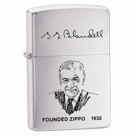 Founder's Lighter Brushed Chrome Zippo Lighter - ID# 200FL