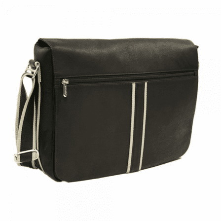 Four Section Urban Messenger Bag by Piel Leather - Free Personalization - Discontinued
