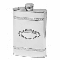 Frame Design Engraved Flask