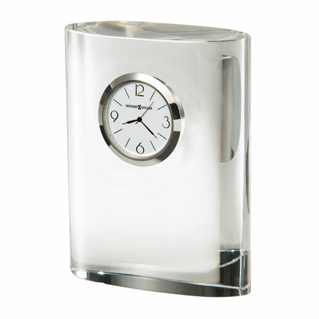 Fresco Oval Crystal Desk Clock by Howard Miller