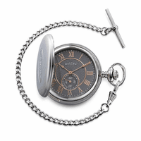 Full Hunter Grey & Rose Gold Dial Pocket Watch & Stand by Dalvey