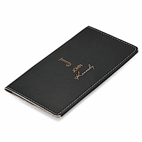 Full Name Monogram Black Checkbook Cover
