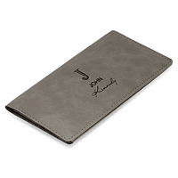 Full Name Monogram Gray Checkbook Cover