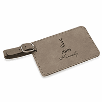 Full Name Monogram Gray Luggage Tag