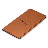 Full Name Monogram Rawhide Checkbook Cover