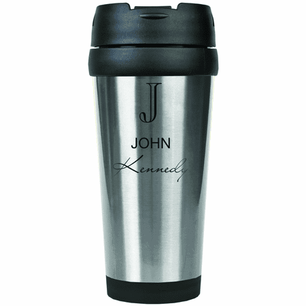 Full Name Monogram Steel Travel Coffee Mug