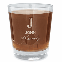 Full Name Monogram Whiskey Glass