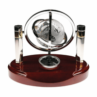 Galaxy Crystal Globe Desk Clock