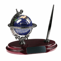 Gemstone Globe Desktop Pen Stand-discontinued