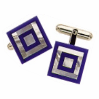 Genuine Lapis & Mother of Pearl Target Cufflinks