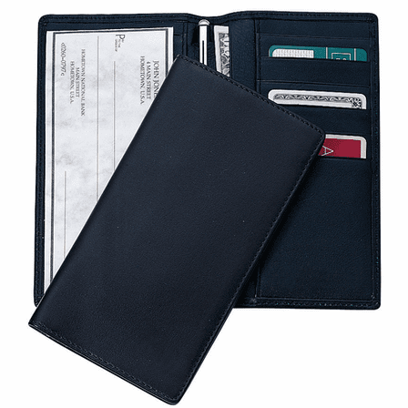 Genuine Leather Checkbook Wallet & Secretary - Discontinued