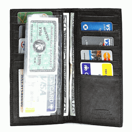 Genuine Leather Credit Card Wallet with Removable Photo Holder