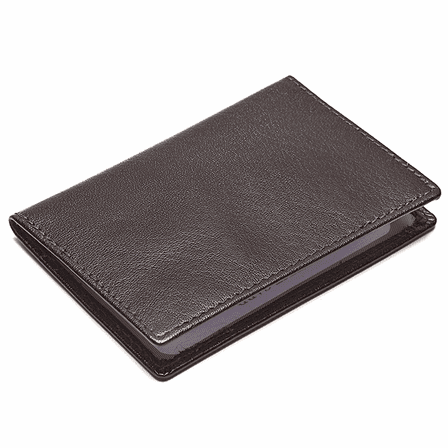 Genuine Leather Double Window ID Case - Free Personalization