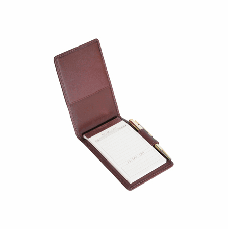 Genuine Leather Flip Style Note Jotter - Discontinued