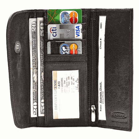 Genuine Leather Ladies Credit Card Wallet & Organizer