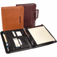 Genuine Leather Zip Around Binder & Padfolio by Royce Leather
