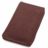 Genuine Leather Zippered Credit Card Holder - Discontinued