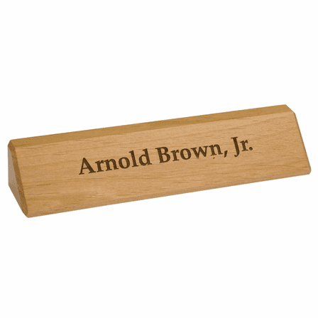 Genuine Red Alder Personalized Desk Wedge