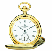 Gold Charles Hubert Pocket Watch & Chain #3907-GR