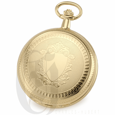 Gold Charles Hubert Pocket Watch & Chain #3909-G