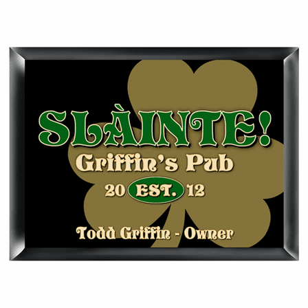 Gold Clover Pub Sign - Free Personalization