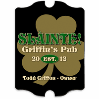 Gold Clover Vintage Pub Sign - Free Personalization