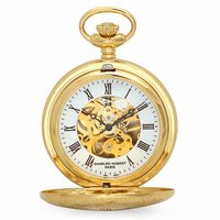 Gold Mechanical Charles Hubert Pocket Watch and Chain #3536